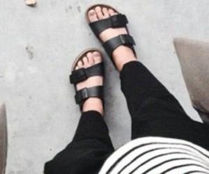 birkenstock, casual, and fashion image