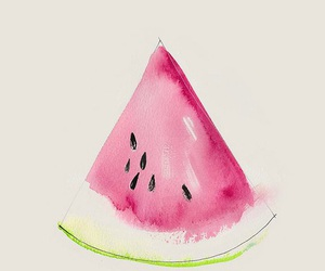 draw, paint, and watermelon image