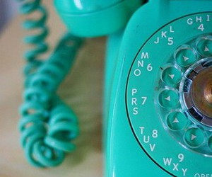 phone, telephone, and blue image