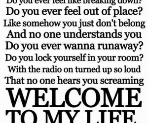 simple plan, life, and welcome to my life image