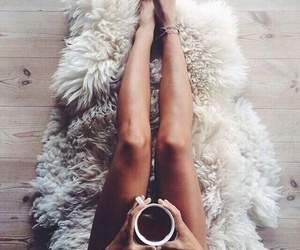 coffee, legs, and winter image