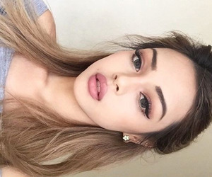 beauty, model, and brows image