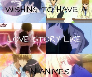 anime, couple, and love image