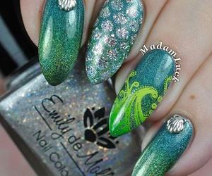 nail art, green, and nails image