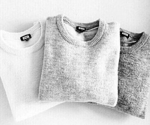 fashion, sweater, and grey image