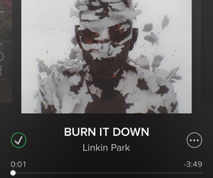 music, linkin park, and burn it down image