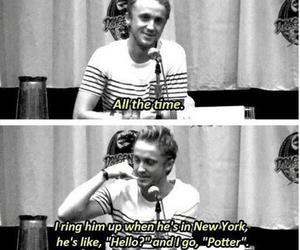 harry potter, tom felton, and potter image