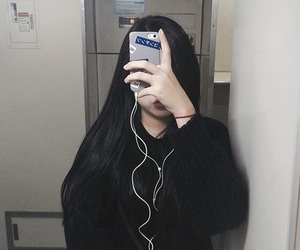 black, girl, and phone image