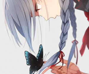 anime, butterfly, and art image