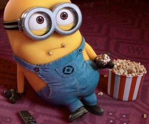 minions, popcorn, and movie image