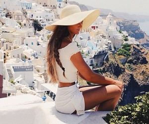 girl, fashion, and Greece image