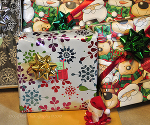 christmas, gift, and wrapped image