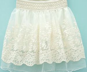 lace, mini skirt, and white image