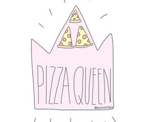 pizza, overlay, and Queen image