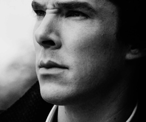 black and white, holmes, and benedict cumberbatch image
