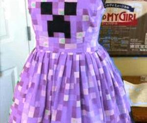 minecraft, creeper, and dress image