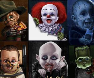 baby, horror, and monster image