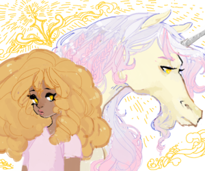 hazel, unicorn, and percy jackson image