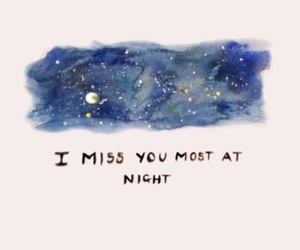 night, quotes, and miss image