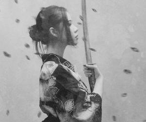 samurai, japan, and sword image
