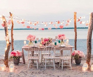 flowers and beach image