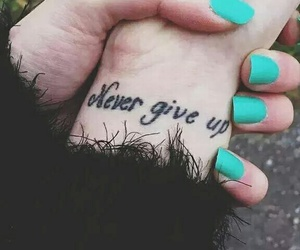 belleza, never give up, and hipster image