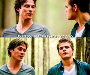 caroline, funny, and stefan salvatore image