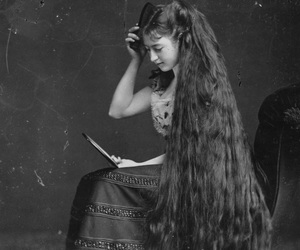 vintage, hair, and retro image
