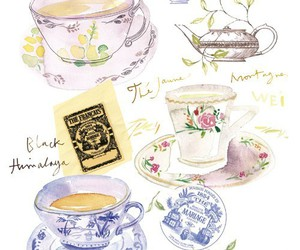 tea, illustration, and art image