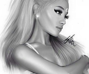 ariana grande, drawing, and focus image