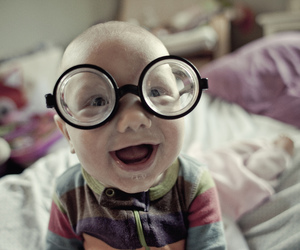 baby, glasses, and smile image