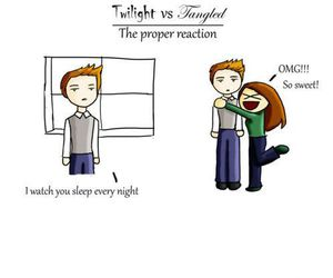 tangled, twilight, and funny image