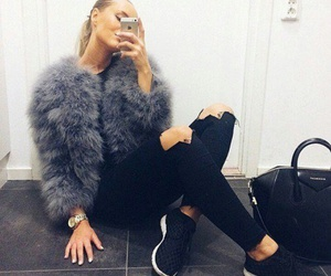 bag, black, and fur image