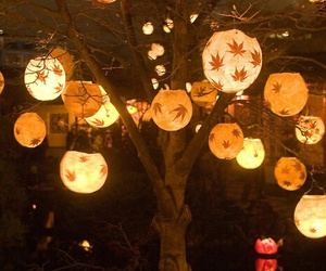 light, tree, and lantern image