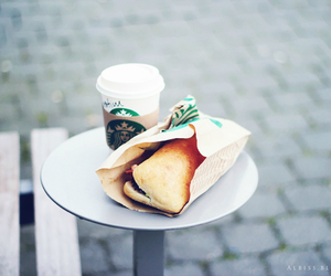 breakfast, coffee, and starbucks image