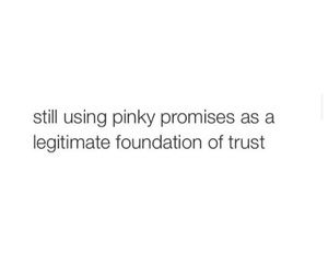 pinky promise, funny, and trust image