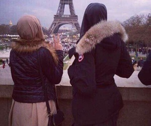 hijab, muslim, and paris image