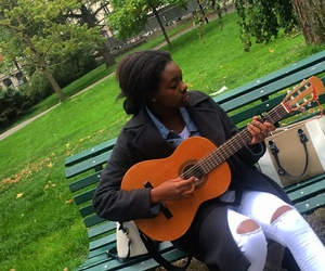 guitar, music, and park image