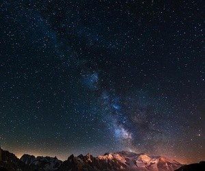 amazing, galaxy, and mountain image
