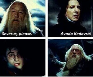 harry potter, severus snape, and avada kedavra image