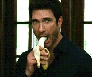 banana, dylan mcdermott, and gay image
