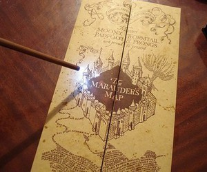 harry potter, magic, and marauders map image