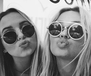 sunglasses, friends, and girls image
