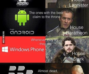 stark, baratheon, and game of thrones image