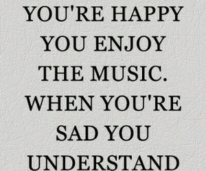 happy, sad, and music image