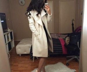 fashion, girl, and coat image
