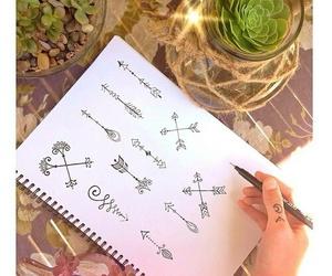 arrow, art, and draw image