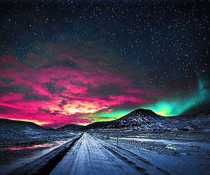 sky, stars, and road image