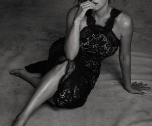 actress, black n white, and fashion image