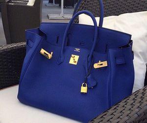 bag, blue, and hermes image